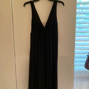 Black Maxi Dress with Wrapped Straps